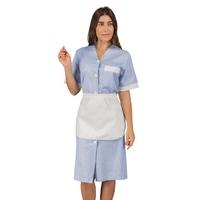 Blouse Femme de chambre rayé bleu et blanc avec tablier Isacco
