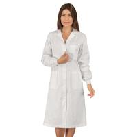 Blouse médicale blanche 100% coton poignets tricotés Isacco
