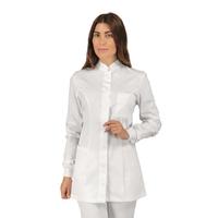 Blouse médicale Coton stretch poignets tricotés Isacco