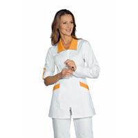 Tunique Médicale Manches longues retroussables Tortola Blanc Abricot