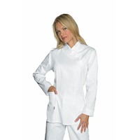 Tunique Médicale Manches longues Micro fibre 100% Polyester Taipei Blanc