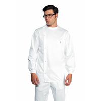 Tunique Dentiste Boutons Pression Poignets Serrés Blanc 100% Coton