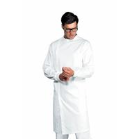 Blouse blanche Homme poignets tricots 100% Coton