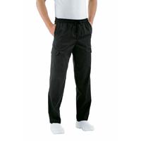 Pantalon Chef Cuisinier 3XL Noir