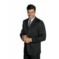 Veste Homme Hiver 3 Boutons Noir 100% Laine
