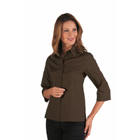 Chemise Kyoto Manches 3/4 Marron Cacao