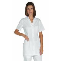 Tunique infirmiere Manches Courtes Marbella Blanche 100% Coton