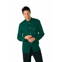 Veste De Service Col Mao Verte 100% Polyester