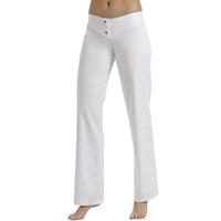 Pantalon blanc, taille basse élastique 2 boutons