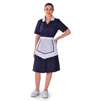 Blouse Femme de Chambre à manches courtes bleu nuit Carlton