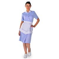 Blouse Femme de chambre à manches courtes bleu ciel Carlton