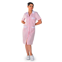 Blouse de travail femme de ménage Positano 100% coton rose