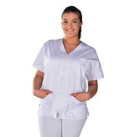 Tunique médicale blanche unisexe Clinic look