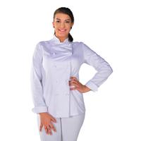 Veste de cuisine Femme 100% coton White look