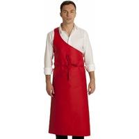 Tablier de boucher Parisien rouge 100% coton
