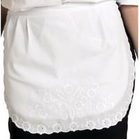 Tablier de serveuse deux poches cachées, dentelle blanche