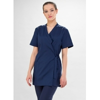 Kimono médical cache coeur bleu marine Yoko Couture