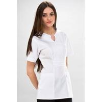 Tunique médicale Princesse Coupe casaque blanche