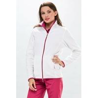 Veste polaire médicale Passe couloir Infirmiere Blanc rose