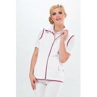 Veste polaire Infirmière sans manche blanc et rose