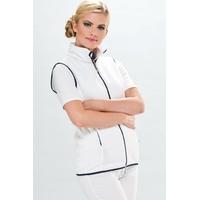 Veste Infirmière Passe couloir polaire sans manche Blanc bleu