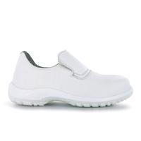 Chaussures de cuisine blanche avec embout de sécurité Dan microfibre Nordways