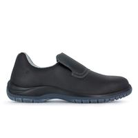 Chaussures de cuisine noir avec embout de sécurité Dan microfibre Nordways