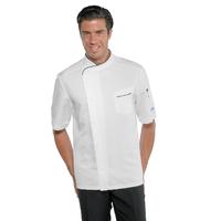 Veste de cuisine tissu anti taches et manches courtes