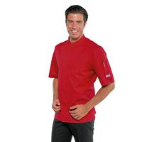 Veste de cuisine à manches courtes Bilbao Rouge