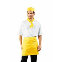 Tablier de cuisine Taille Cm 70x46 avec Poches Jaune