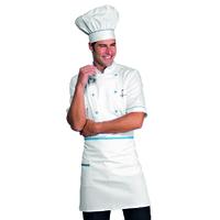 Tablier de cuisine Taille Cm 70x46 avec Poches Blanc Turquoise