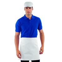 Tablier blanc de cuisine Taille Cm 70x46 avec Poches