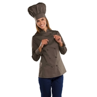 Veste de cuisine Lady Chef couleur Chocolat