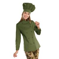 Veste cuisine Femme vert olive