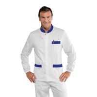 Blouse médicale Blanc Bleu pour Homme