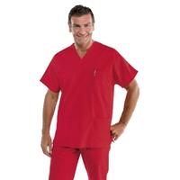 Blouse médicale rouge Mixte à enfiler