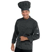 Veste cuisinier noir et blanc Vienna