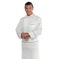 Veste blanche de cuisine italienne 100% coton