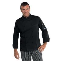Veste noire de cuisinier coupe slim