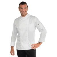 Veste blanche de cuisiner coupe slim 100% coton
