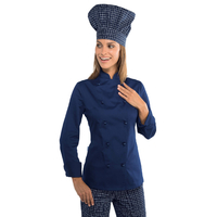 Veste cuisine Lady Grand chef bleue