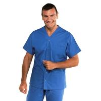 Tunique médicale Unisex 100% coton Cancun bleu