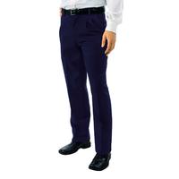 Pantalon a Pinces Taille Haute Homme Bleu