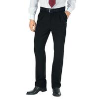 Pantalon a Pinces Taille Haute Homme Noir
