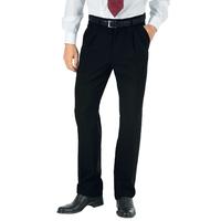 Pantalon a Pinces Homme Hiver Noir