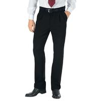 Pantalon a Pinces Homme Noir