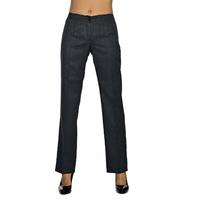 Pantalon Femme Anthracite Mi-Saison Coupe Droite