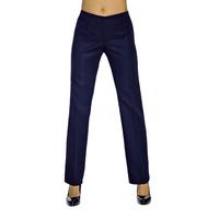 Pantalon Femme Bleu Marine Mi-Saison Coupe Droite