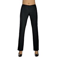 Pantalon Femme Noir Mi-Saison Coupe Droite