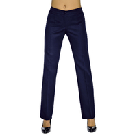 Pantalon Femme Bleu Marine Coupe Droite